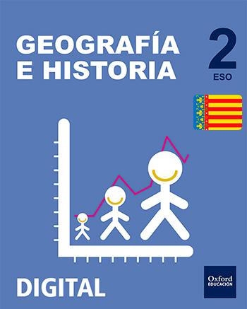 Inicia Digital - Geografía e Historia 2.º ESO. Licencia alumno (Comunidad Valenciana)
