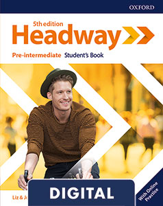 Headway 5th Edition Pre-Intermediate. Digital Student's Book+ Online Practice