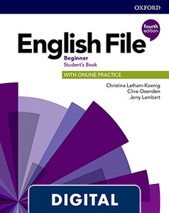 English File 4th Edition Beginner (A1). Digital Student's Book + WorkBook + Online Practice.