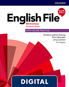 English File 4th Edition Elementary (A1/A2). Digital Student's Book + WorkBook + Online Practice.