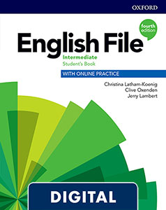 English File 4th Edition Intermediate (B1). Digital Student's Book + WorkBook + Online Practice.