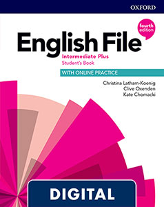 English File 4th Edition Intermediate Plus (B2.1). Digital Student's Book + WorkBook + Online Practice.