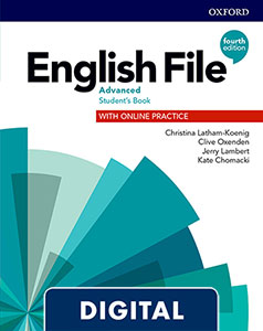 English File 4th Edition Advanced (C1.1). Digital Student's Book + WorkBook + Online Practice.