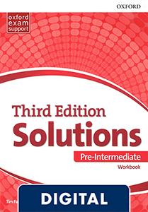 Solutions 3rd Edition Pre-Intermediate. Workbook (OLB eBook)