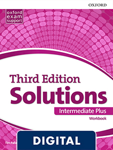 Solutions 3rd Edition Intermediate Plus. Workbook (OLB eBook)