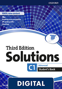 Solutions 3rd Edition Advanced. Student's Book Blink e-Book