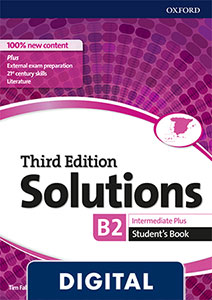 Solutions 3rd Edition Intermediate Plus. Student's Book Blink e-Book