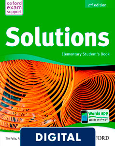 Solutions 2nd edition Elementary. Student's Book (OLB eBook)