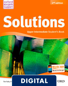 Solutions 2nd edition Upper-Intermediate. Student's Book (OLB eBook)
