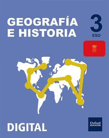 Inicia Digital - Geografía e Historia 3.º ESO. Licencia alumno (Navarra)